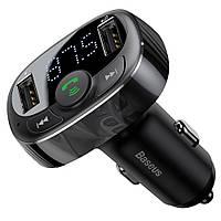 Автомобильный FM-модулятор (трансмиттер) Baseus S-09 Black