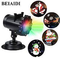 Проектор лазерный 4 картриджа 16 слайда Star Shower Garden Projector Laser Lamp ZP4 154133