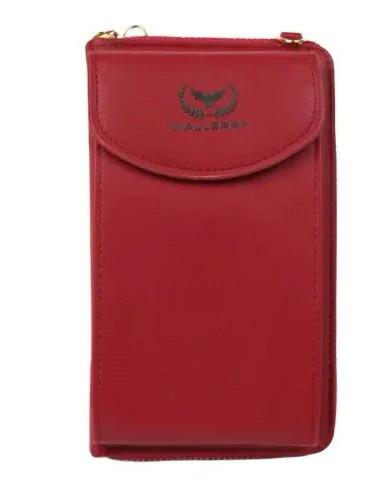 Женский кошелек Wallerry ZL8591 - Бордовый