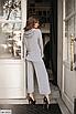 Батальный женский костюм с брюками из ангоры, серый, бежевый, размеры: 48-50, 52-54, 56-58, 42, 44, 46, фото 4