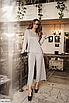 Батальный женский костюм с брюками из ангоры, серый, бежевый, размеры: 48-50, 52-54, 56-58, 42, 44, 46, фото 3