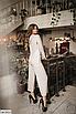 Батальный женский костюм с брюками из ангоры, серый, бежевый, размеры: 48-50, 52-54, 56-58, 42, 44, 46, фото 6