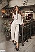 Батальный женский костюм с брюками из ангоры, серый, бежевый, размеры: 48-50, 52-54, 56-58, 42, 44, 46, фото 2