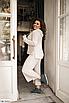 Батальный женский костюм с брюками из ангоры, серый, бежевый, размеры: 48-50, 52-54, 56-58, 42, 44, 46, фото 8