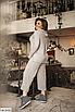 Батальный женский костюм с брюками из ангоры, серый, бежевый, размеры: 48-50, 52-54, 56-58, 42, 44, 46, фото 9