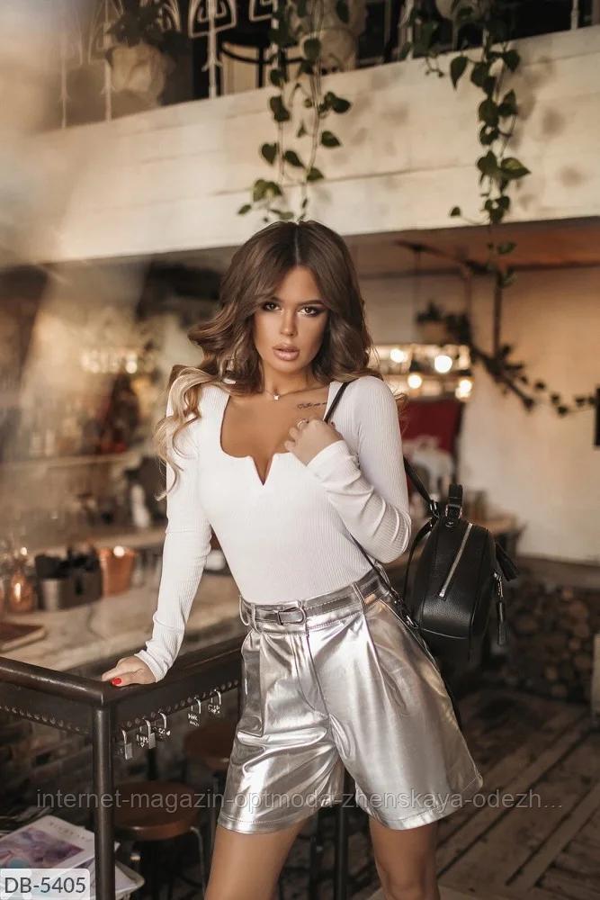 Модные женские шорты из эко-кожи больших размеров, черный, коричневый, золото, серебро, размеры: 48-50, 52-54