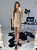 Шикарное платье мини из люрекса, размеры: S, M, цвета - черный, золото, серебро, фото 2