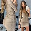 Шикарное платье мини из люрекса, размеры: S, M, цвета - черный, золото, серебро, фото 3