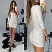 Шикарное платье мини из люрекса, размеры: S, M, цвета - черный, золото, серебро, фото 6
