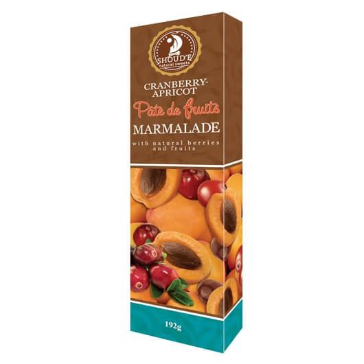 Мармелад Patte de Fruits Клюква-абрикос Сладкий Мир, 192 грамма