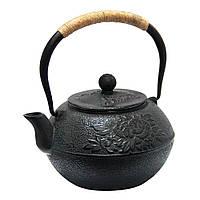 Чайник чавунний чорний 1100 мл ПІВОНІЯ для ресторанів