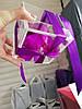 Стабилизированный бутон роза в футляре Lerosh - Standart,  Фиолетовый, фото 4