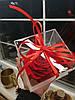 Стабилизированный бутон роза в коробке Lerosh - Lux, Красный, фото 4