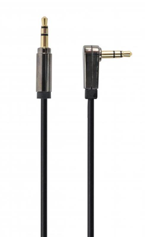 Аудио-кабель Cablexpert (CCAPB-444L-1M),3.5 мм угловой M/M 3.5мм, 1,0 м, стерео, черный
