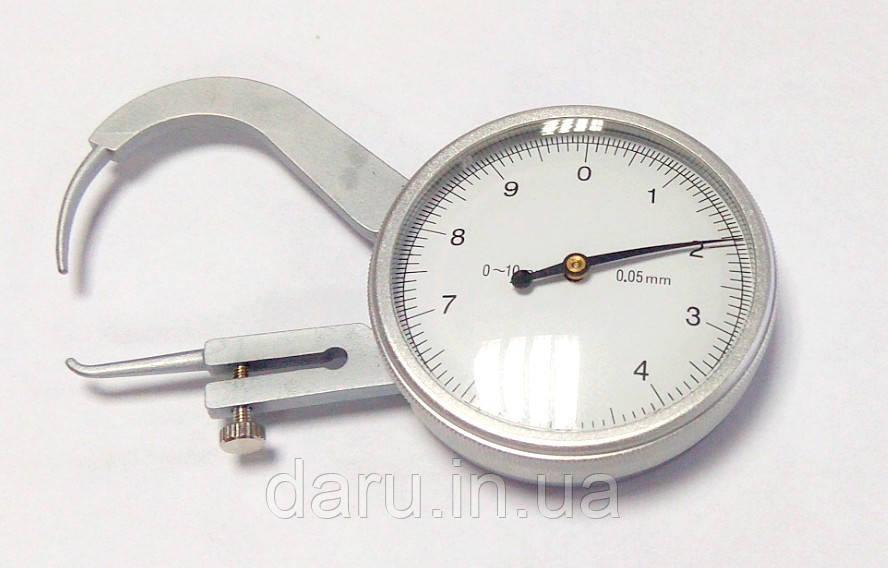 Толщиномер (стенкомер) индикаторный KM-422-105(0-10 мм;±0,05 мм)