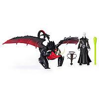 Игровой набор с фигурками Как приручить дракона 3 Гриммель и дракон Смертохват Deathgripper and Grimmel