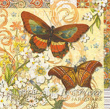 Декупажная салфетка ,Две бабочки 5010