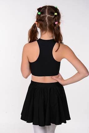 Чорна дитяча спідниця для танців та балету, фото 2