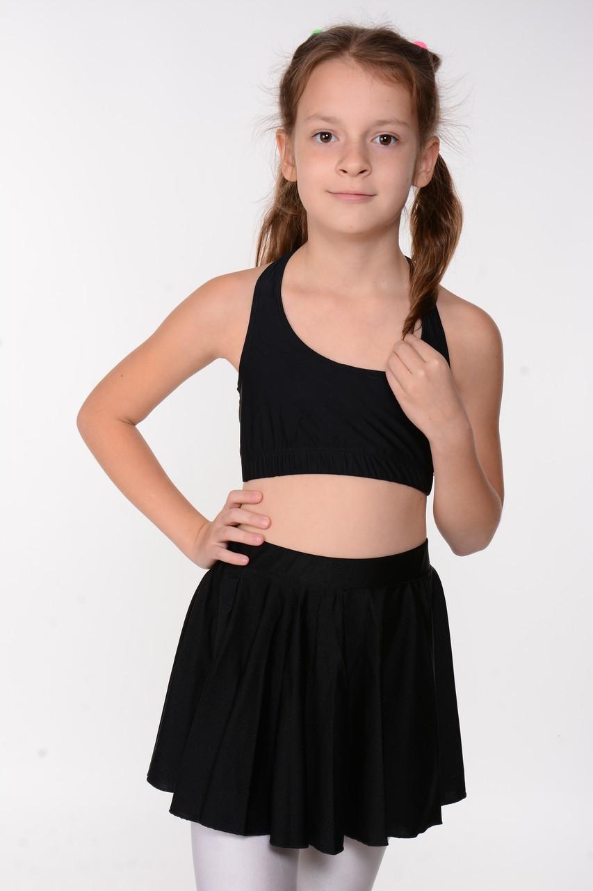 Чорна дитяча спідниця для танців та балету