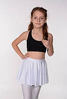 Белая детская юбка для танцев и хореографии