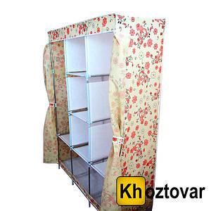 Мобільний тканинний шафа для одягу Storage Wardrobe YQF130-14A