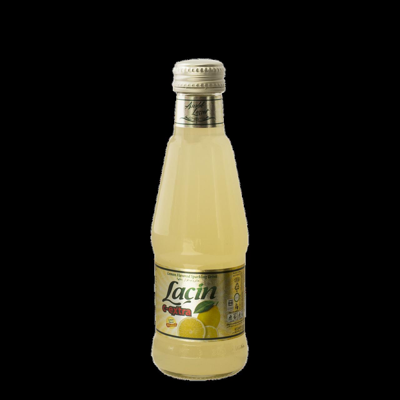 """Лимонад Lacin со вкусом лимона с витамином """"С"""" 0,2 л газированный,стекло (уп/6 бут.)"""