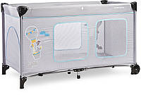 Детская кровать манеж Caretero Simplo Plus Grey