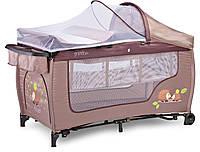 Детская кровать манеж Caretero Grande Plus Beige