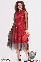 Вечернее блестящее платье А-силуэта с завязками с 50 по 58 размер, фото 1
