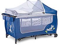 Детская кровать манеж Caretero Grande Plus Navy, фото 1