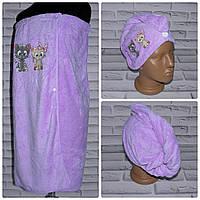 Комплект для сауны полотенце юбка + чалма тюрбан (N504)
