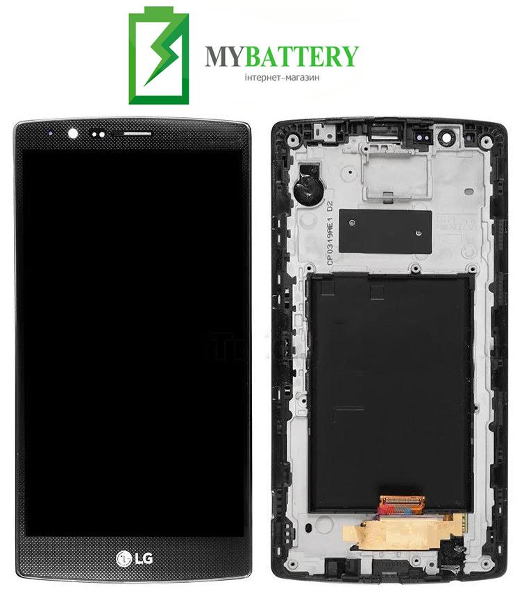 Дисплей (LCD) LG H540F G4 Stylus Dual/ H542/ H631/ H635/ LS770 с сенсором черный + рамка