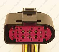 Разъем электрический 14-и контактный (49-26) Новое 1J0 973 737
