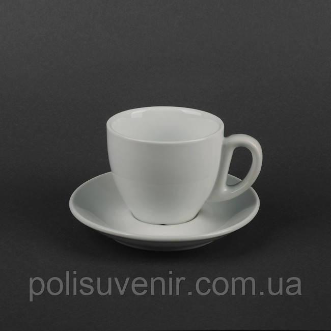 Чайний набір з 2 предметів: чашка 250 мл і блюдце