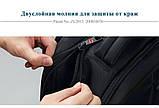 Рюкзак мужской Tigernu городской с USB портом, отделом для ноутбука, чехлом, встроенным замком (черный), фото 8