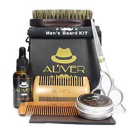 Подарочный набор, набор по уходу за бородой Aliver с ножницами
