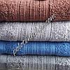 Махровое лицевое полотенце Вязанка