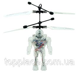 Интерактивная игрушка летающий робот Robot Brigade с сенсором движения