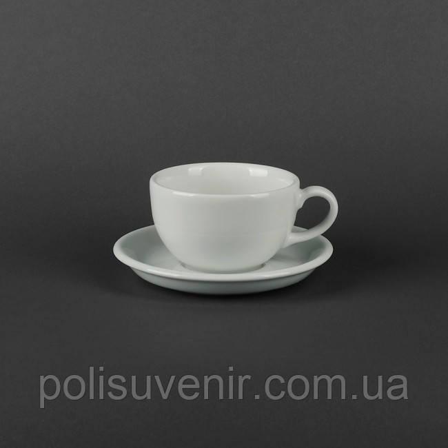 Чашка Америка 250 мл з блюдцем 145 мм
