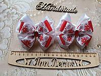 Резиночки под вышиванку. Резинки в украинском стиле. Резиночки для волос. Бантики для волос.