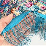 Аврора 1841-13, павлопосадский платок шерстяной  с шелковой бахромой, фото 5