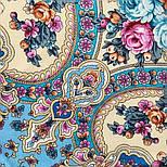 Аврора 1841-13, павлопосадский платок шерстяной  с шелковой бахромой, фото 7