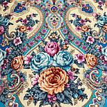 Аврора 1841-13, павлопосадский платок шерстяной  с шелковой бахромой, фото 8