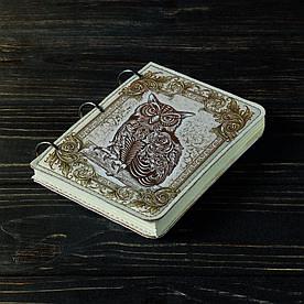 Блокнот v.1.0. А6 Fisher Gifts 27 Сова (эко-кожа)