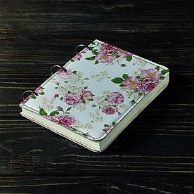 Блокнот v.1.0. А6 Fisher Gifts 75 Весенние розы фон (эко-кожа)