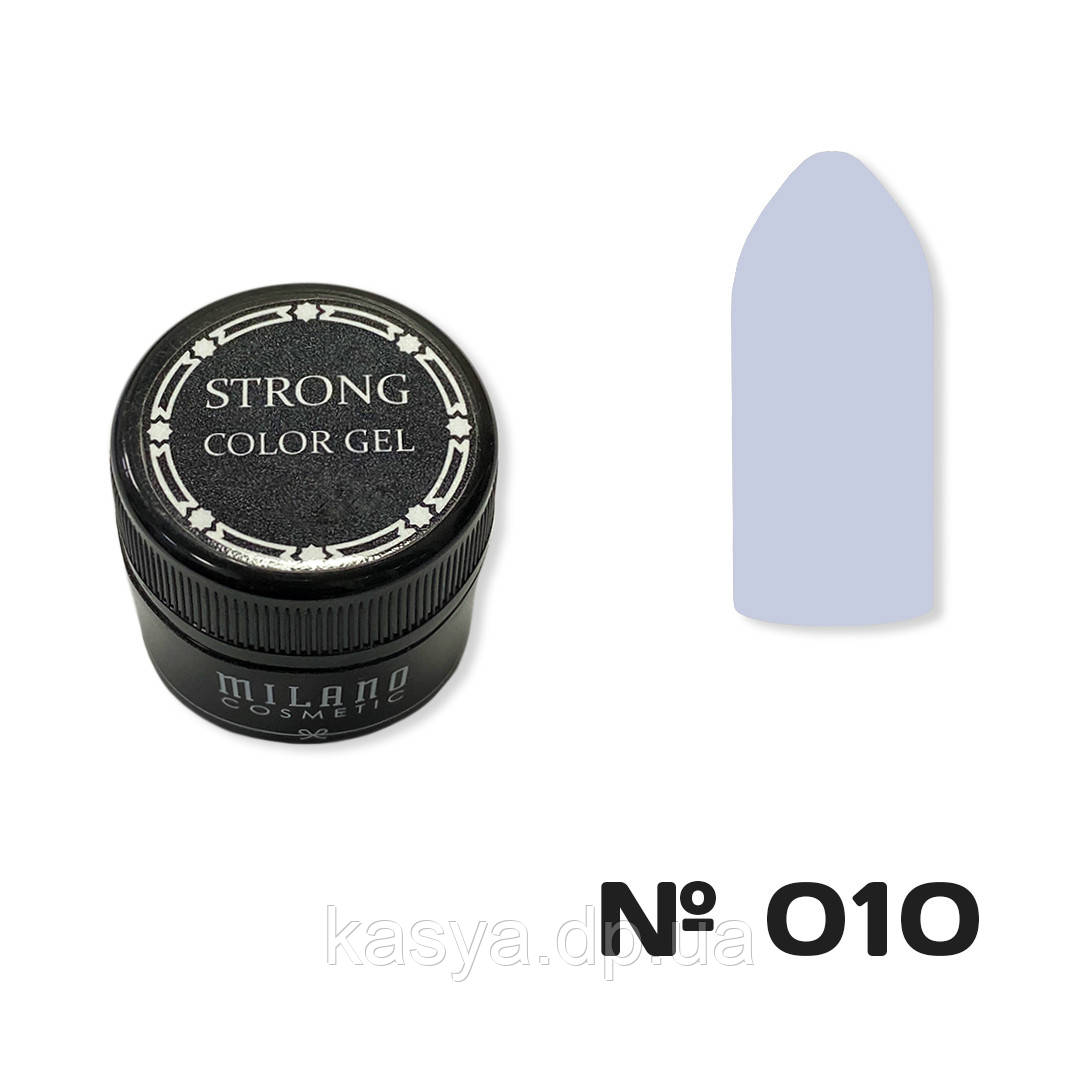 Гель-краска MILANO STRONG №010, 6 г