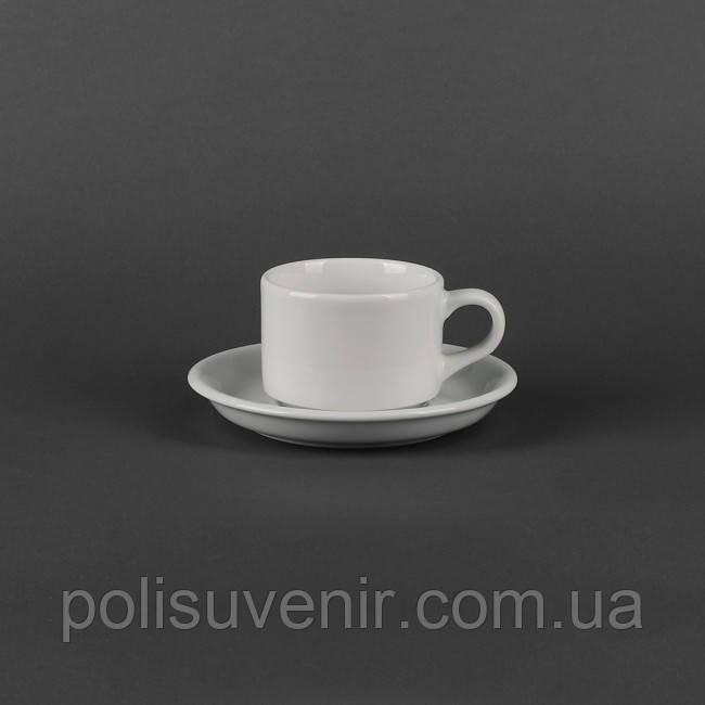 Чашка Америка 190 мл з блюдцем 150 мм