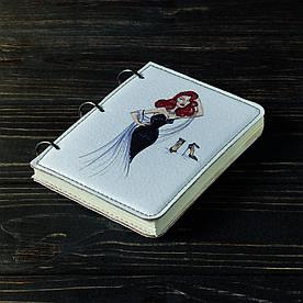 Блокнот v.1.0. А6 Fisher Gifts 108 Девушка VOGUE 1 (эко-кожа)
