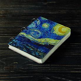 Блокнот v.1.0. А6 Fisher Gifts 176 Сказочный ночной город (эко-кожа)