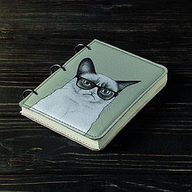 Блокнот v.1.0. А6 Fisher Gifts 191 Унылый кот (эко-кожа)